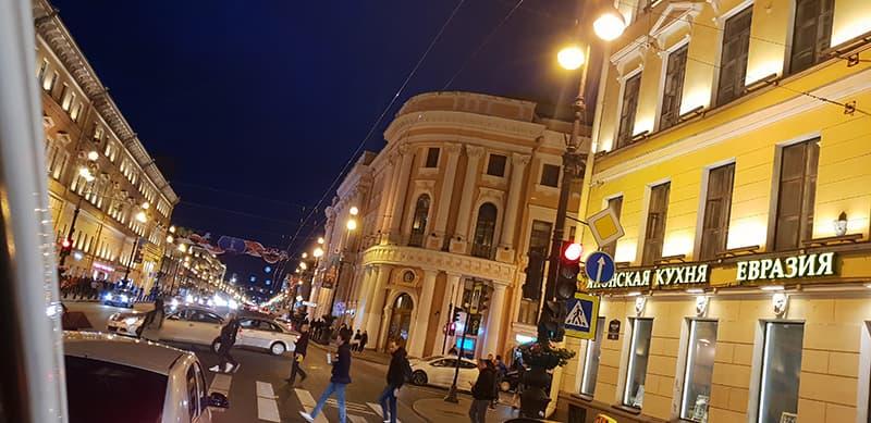 Nevsky Avenue Nightlife