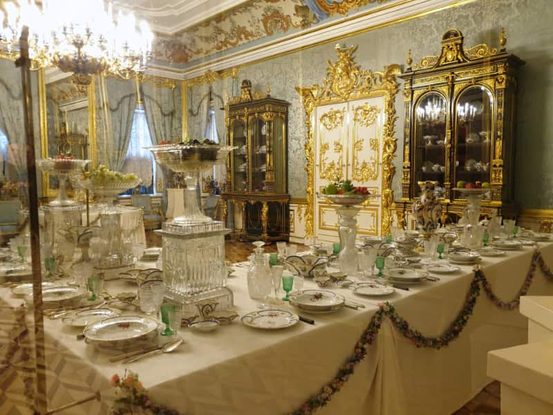 Blue Dining Room in Peterhof Palace