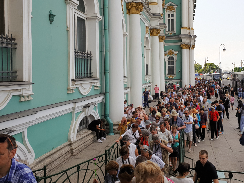 Hermitage line for tickets