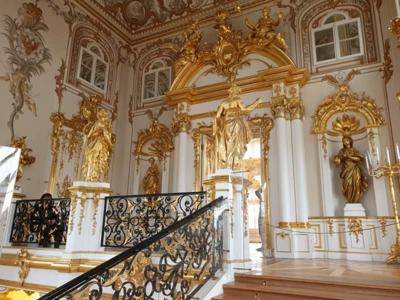 Main staircase in Peterhof Palace
