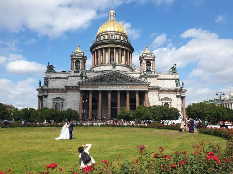 wedding at St Isaac's Cathedral