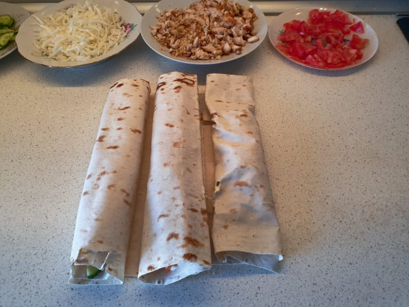 Home-made Shawarma