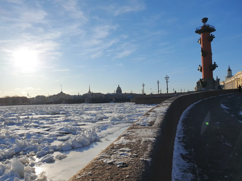 Winter views of the Neva