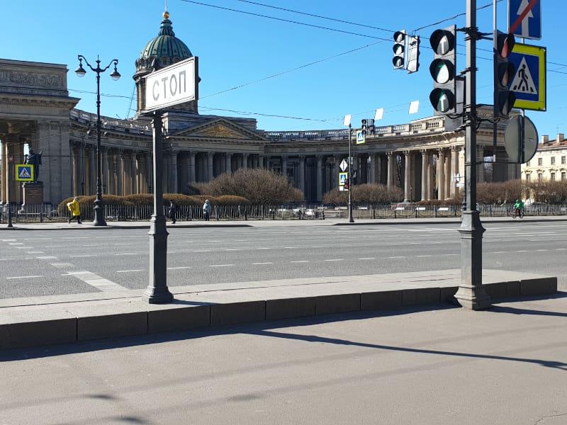 Empty Nevsky Avenue